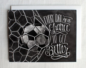 soccer card soccer coach gift motivational quote