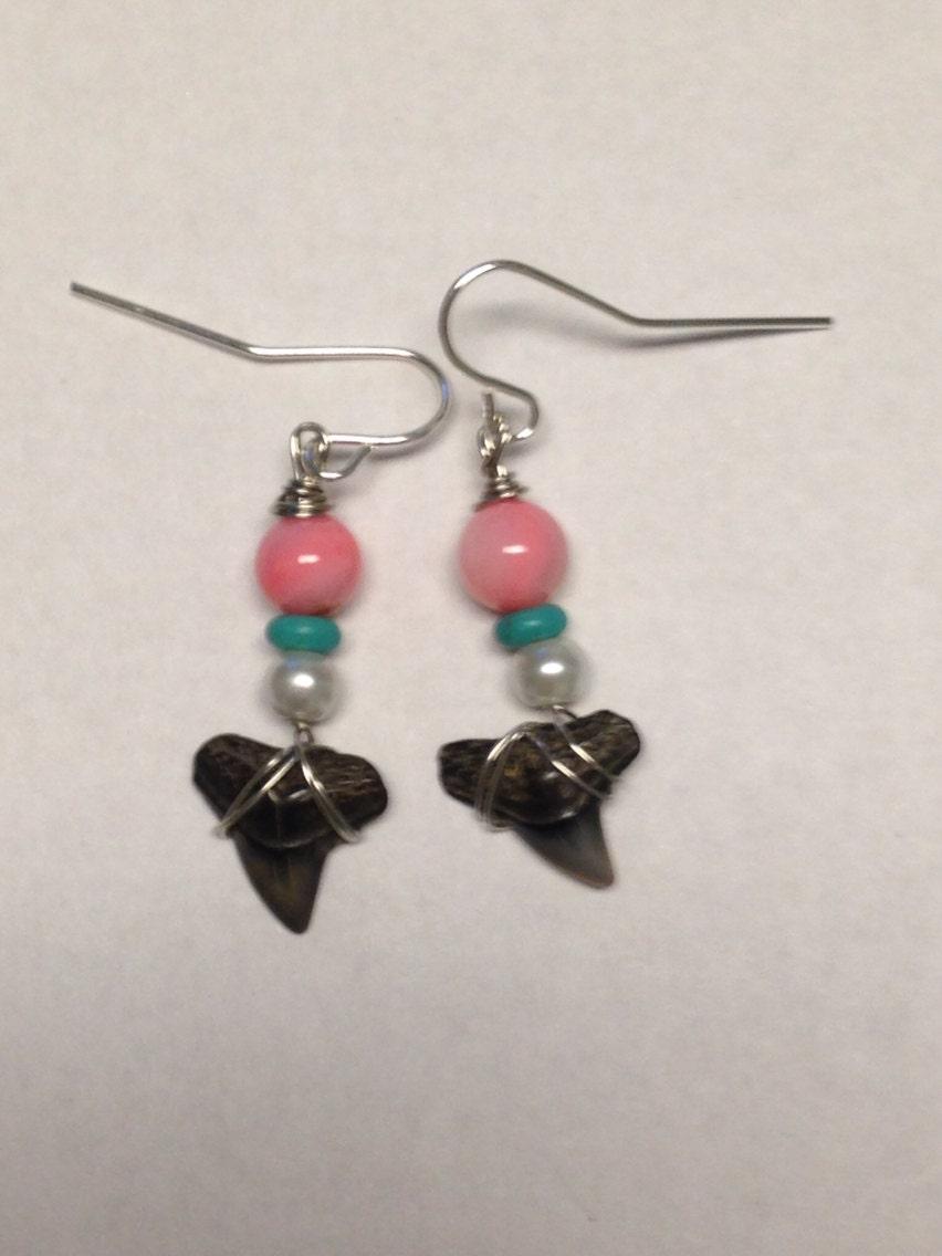 sharks teeth earrings dangle earrings jewelry