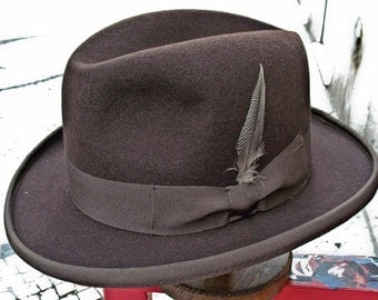 Homburg Hat - with pencilroll - 1900 style - made in Portugal