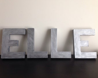 12inch paper mache letters metallic name nursery home decor wedding