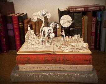 "Paper Sculpture Fineart Postcard ""Crin Blanc"""