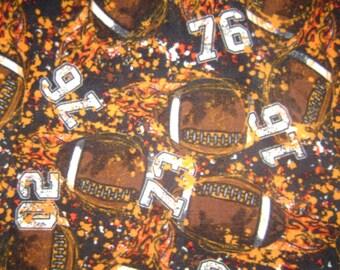 Orange & Brown Football Fleece Blanket