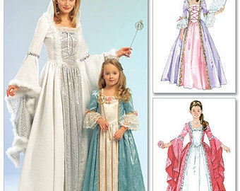 McCall's Pattern M5731 Misses', Children's and Girls' Princess Costumes