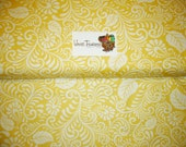 Moonflower Scrolled Leaf in Yellow - Quilting Treasures - Cotton fabric - Choose your cut