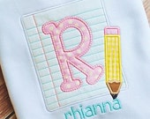 Paper and Pencil Back to School Personalized Tshirt
