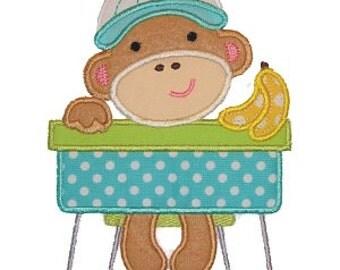 Back to School Boy Monkey Tshirt