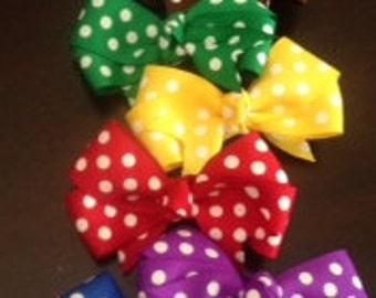 Hair Bow Set, Polka Dot Hair Bows, Summer Hair Bows, Infant Hair Bows, Toddler Hair Bows, Girls Hair Bows, Spring Hair Bows