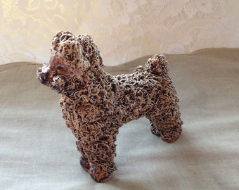Vintage Bone China Poodle,  Unique
