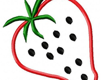 Strawberry Embroidery Applique Designs 023