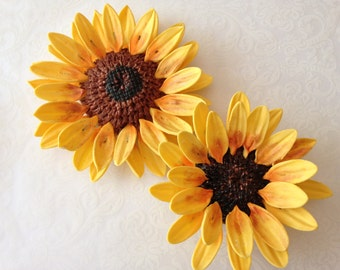 how to make sunflower cake decorations