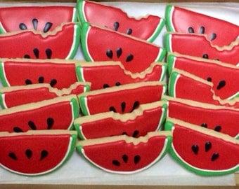 Watermelon Cookies - 1 Dozen
