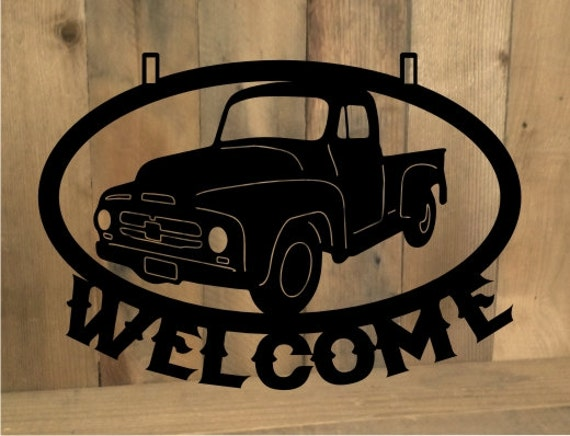 Metal Cut Out Custom Personalized Classic Truck By