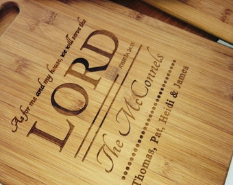 Beautiful Custom Bamboo Cutting Board - Your names and dates - Wedding, Birthday Special Gift - Price includes Shipping