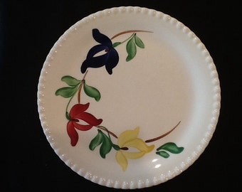 Vintage Blue Ridge Pottery Dinner Plate <> Carnival Pattern <> Southern Potteries <> 1950's <> NICE CONDITION