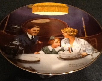 Vintage Norman Rockwell Plates <> SIX <>  Light Campaign Series <> 1980's <> Great Find <> MINT CONDITION