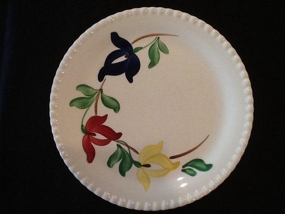 Vintage Flower Patterns Vintage Blue Ridge Pot...