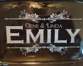 Personalized Pyrex Glass Bakeware dish 7X11 laser Engraved Wedding Gift Housewarming Gift, Personalized Pyrex, Pyrex Glass, 2 quart
