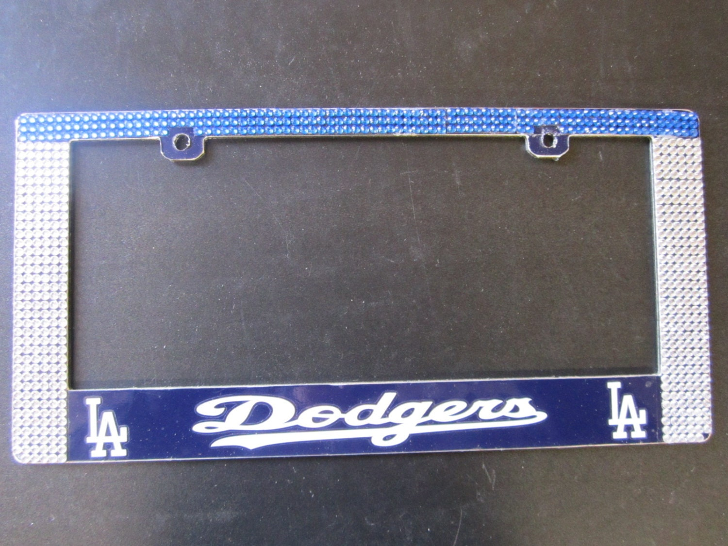 dodgers rhinestone license plate frame dodgers rhinestone license plate frame dodgers rhinestone license plate frame