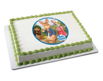 Peter Rabbit Edible Cake or Cupcake Toppers - Choose Your Size