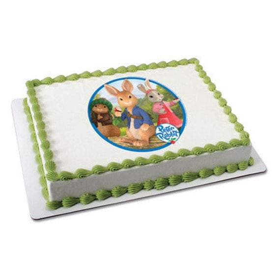 Peter Rabbit Edible Cake or Cupcake Toppers by ...
