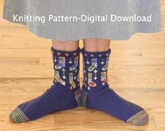 Sock Lover's Socks Knitting Pattern (digital download)