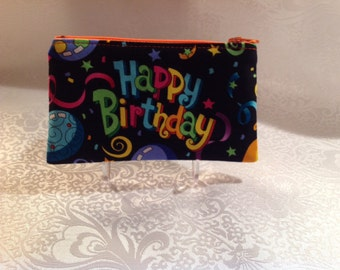 Happy Birthday Zippered Pouch