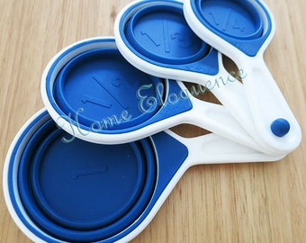 Space saving colapsable measuring cups - Baking, Cupcakes, Macarons, Cooking tools