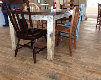 Custom Built Farmhouse Table for Lycih