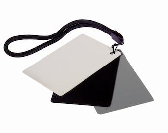 Pocket Digital Exposure Set Gray Card For White Balance, Exposure Control, Color Balancing: Great For Film or Digital Cameras