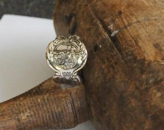 california ring, american ring, spoon ring, california state ring
