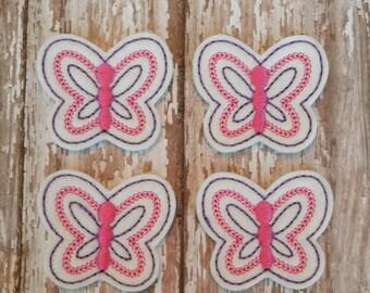 Butterfly Feltie Purple W/Hot Pink