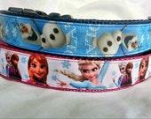 Frozen Dog Collar - Olaf or Anna & Elsa