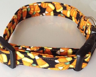 Halloween Dog and Cat Collar with Pumpkins and Candy Corn