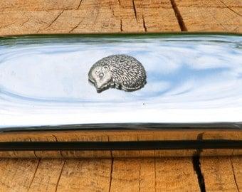 Hedgehog Metal Pen Case & Ball Point Set Personalised Engraved Gift