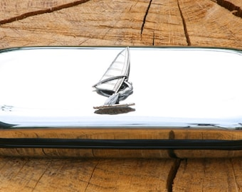 Windsurfing Metal Pen Case & Ball Point Set Personalisable Gift