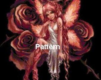 Fairy #7. Cross Stitch Pattern. PDF Files.