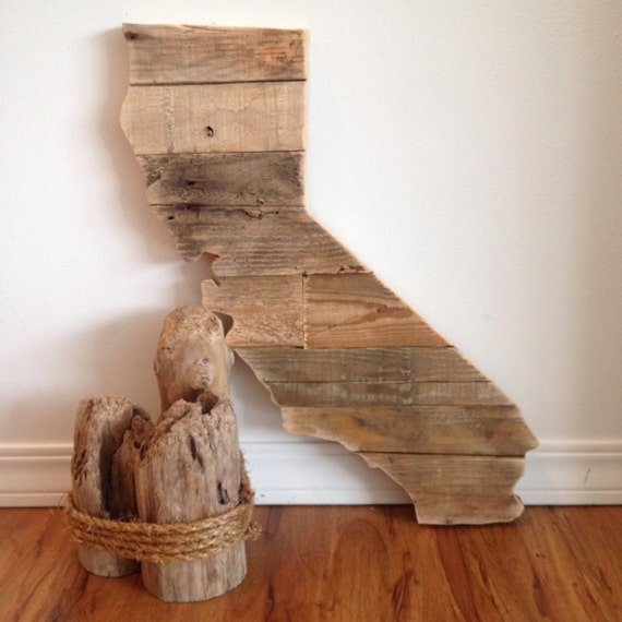 Reclaimed Flooring California: California Reclaimed Wood State Sign By HarborAndHome On Etsy