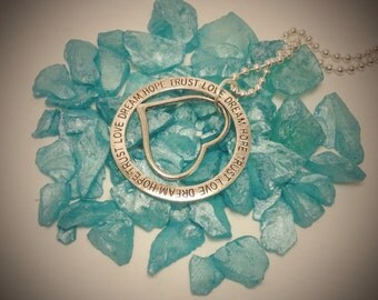 Love Dream Hope Trust necklace