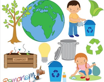 Earth day clip art | Etsy