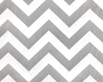 ZIG ZAG Chevron Premier Prints Fabric By The Yard Storm Grey/Gray 1 Yard or more Decorator Cotton Fabric