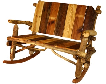 Reclaimed Wood Rocking Chair Rustic Rocking Chair