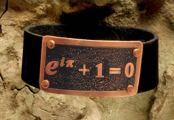 Euler's identity math bracelet jewelry from scientifiques.