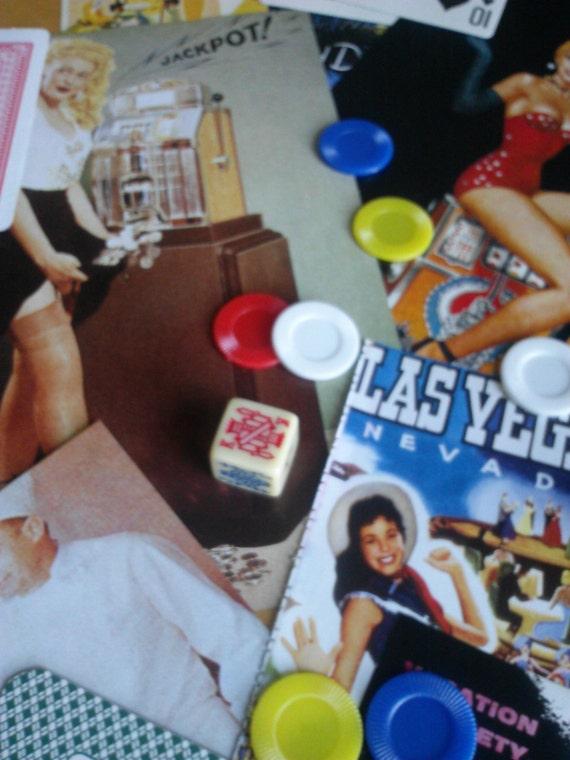 Vintage atomic era vegas pin up girl paper ephemera pack for Arts and crafts stores in las vegas