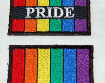 Gay Pride Rainbow Flag embroidered patch