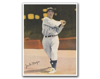 Joe Dimaggio Baseball Art Sports Poster Print (H235)