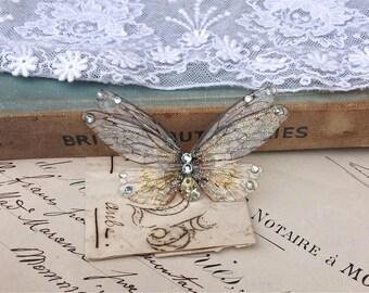 Pretty double Faerie wing Small Brooch