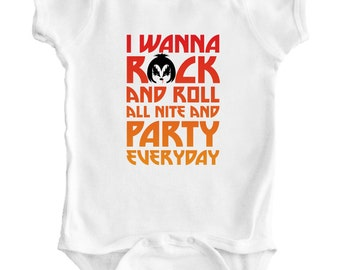 KISS - Baby Romper / Creeper / Bodysuit / Snapsuit / Vest / One piece / Shirt / Baby Shower