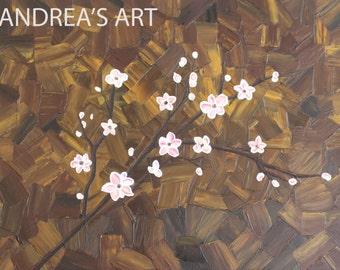 "Original highly textured acryllic painting, 30""x40"", Canvas, Medium Gloss Gel,"