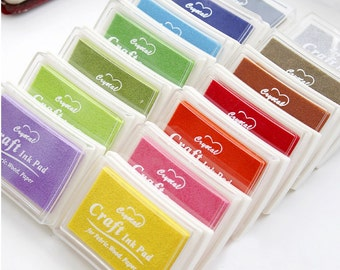 Colorful Crystal Craft Oil Based Stamp Ink Pads - 1 piece