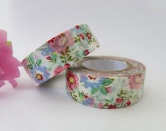 Floral Washi Tape / Decorative Washi Paper Masking Tape  WT002